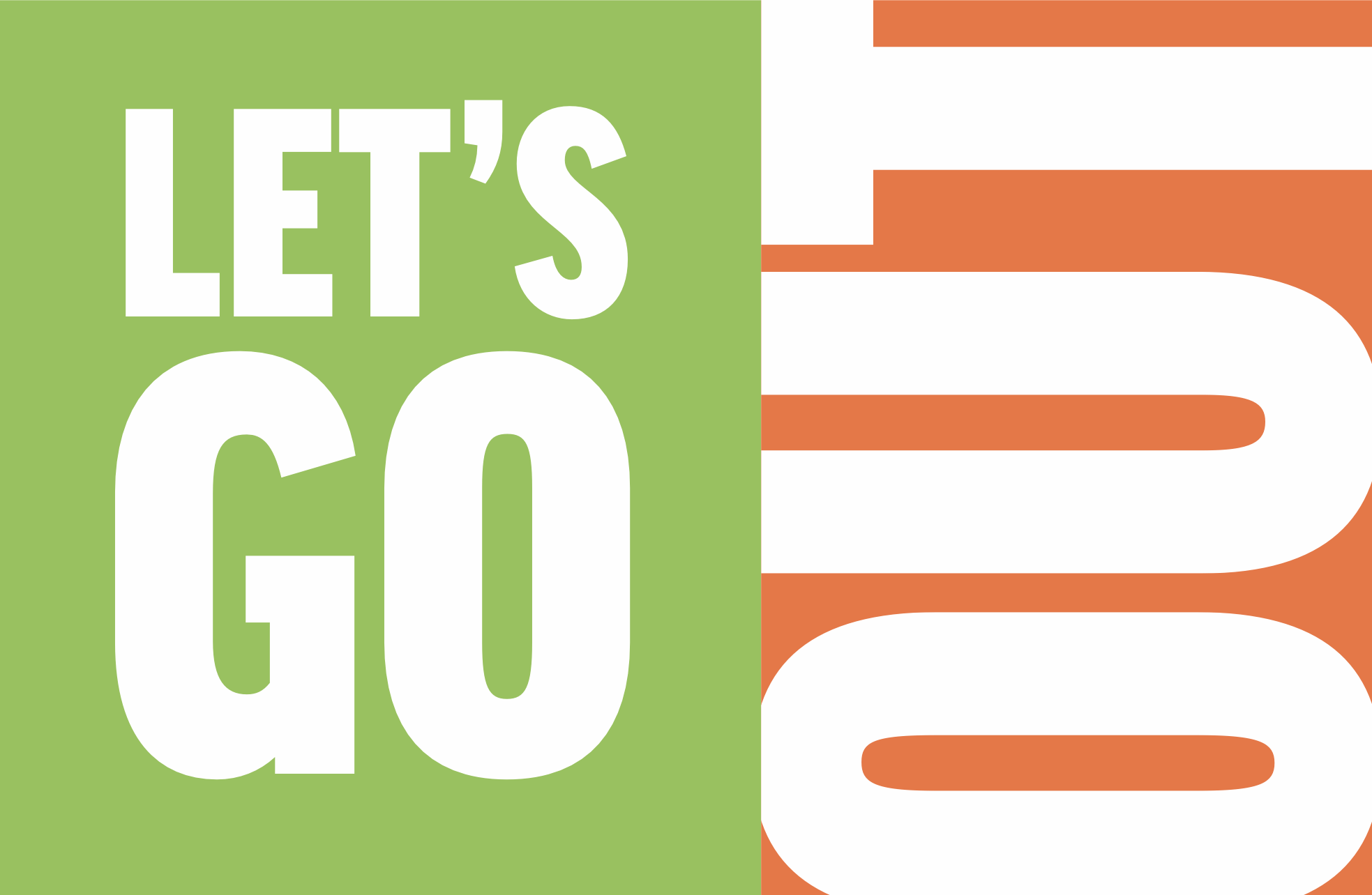 Large text saying: Let's Go Out