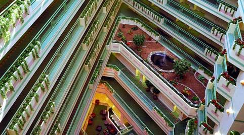Atrium Of Sheraton Springfield Monarch Place Hotel