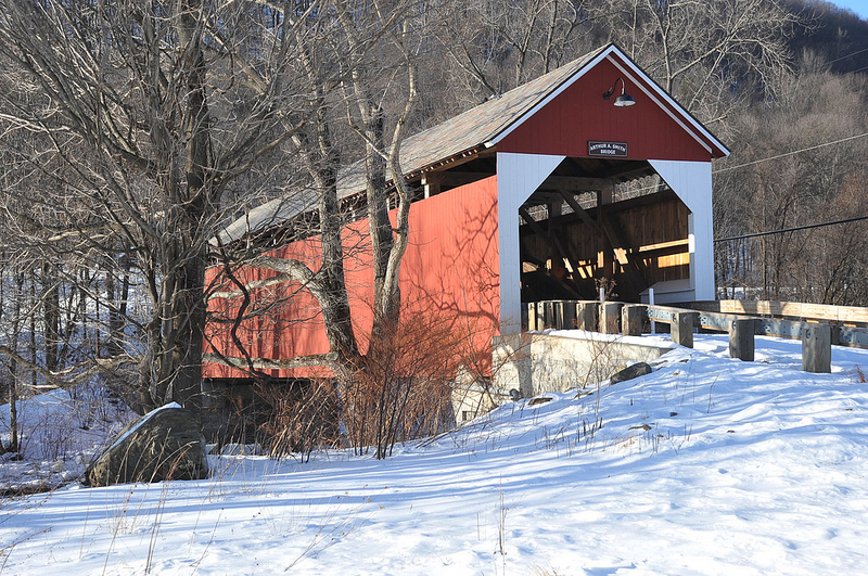 Arthur Smith Covered Bridge in Colrain, MA by Peter MacDonald