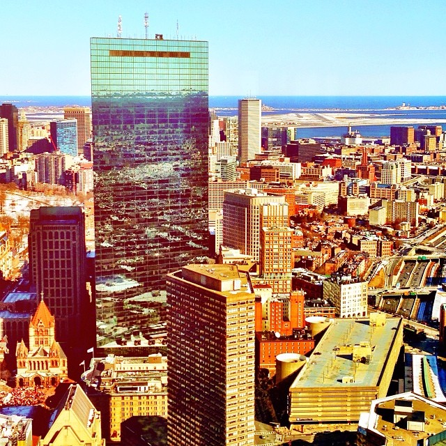 View from the Skywalk Observatory at Prudential Center by @kk021