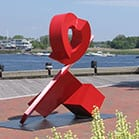 red rover sculpture
