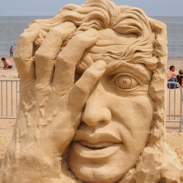 Sculpture at the 2014 Sand Sculpting Festival in Revere, MA by @jeanine554