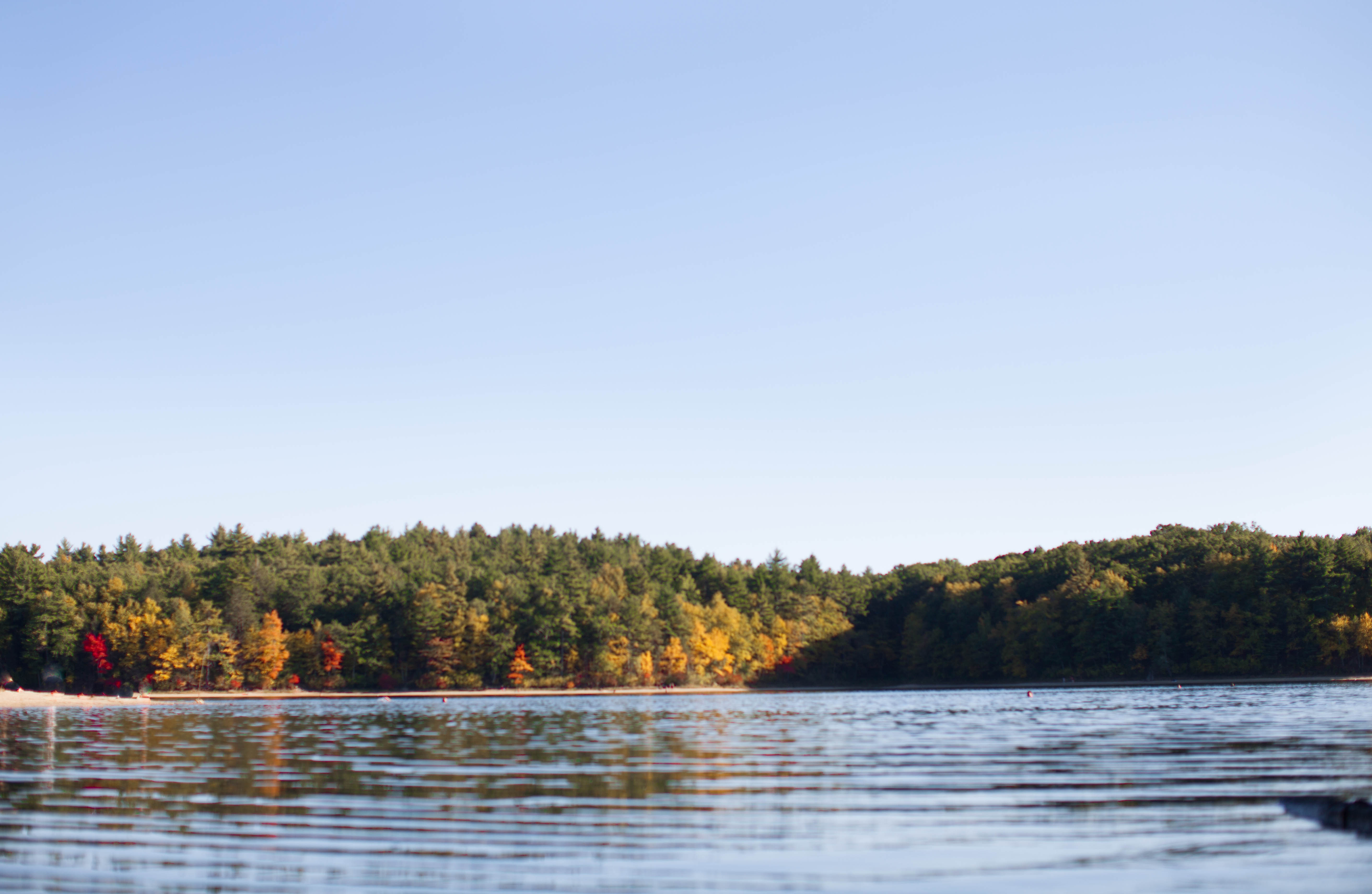 Fall Colors Walden Pond