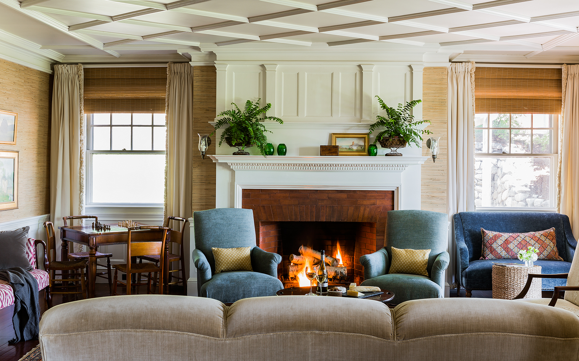 Fireplace - photo by Michael Lee